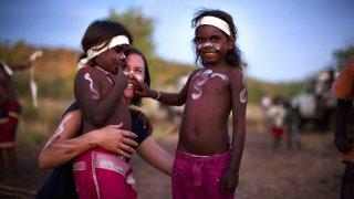 Enfants aborigènes en Australie