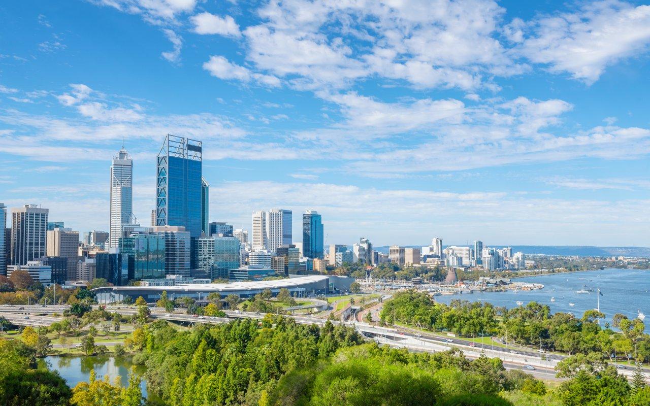 Vue sur la ville de Perth