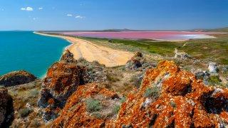 Géographie de l'Australie : pink lake