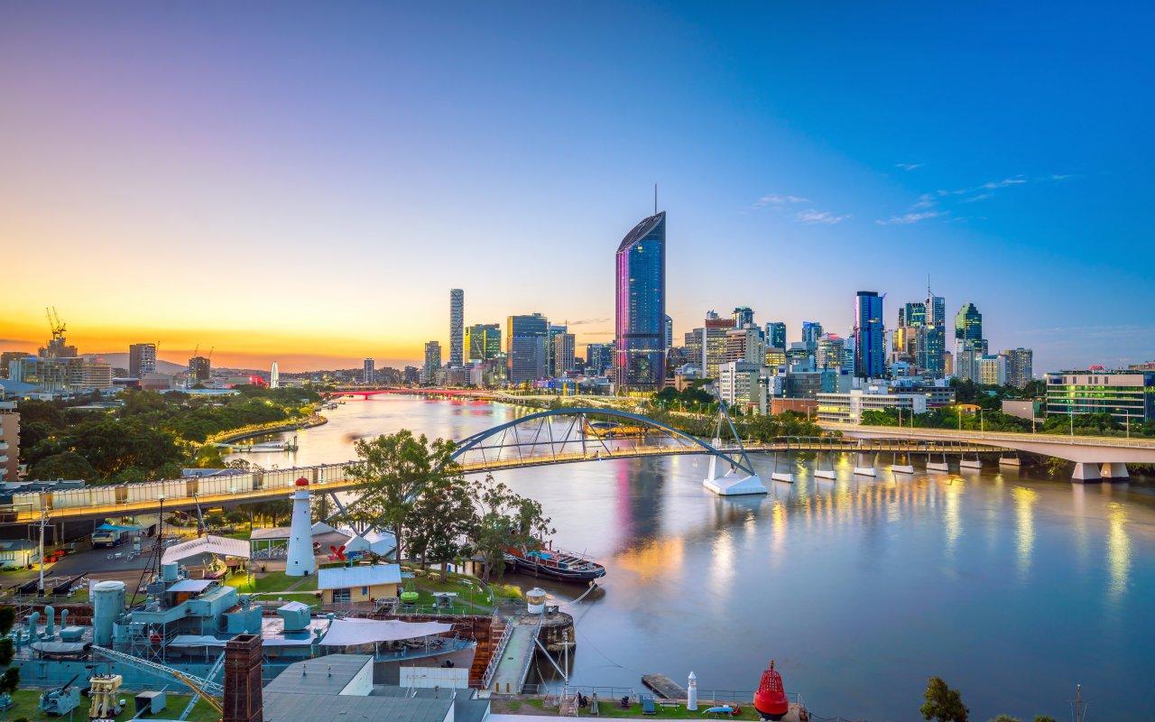 La ville de Brisbane en Australie