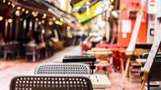 Restaurants dans les rues de Melbourne en Asutralie