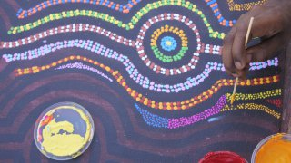 La peinture l'un des symboles de la culture aborigène en Australie