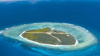 lady elliot aerial barrier reef - voyage australie terra australia
