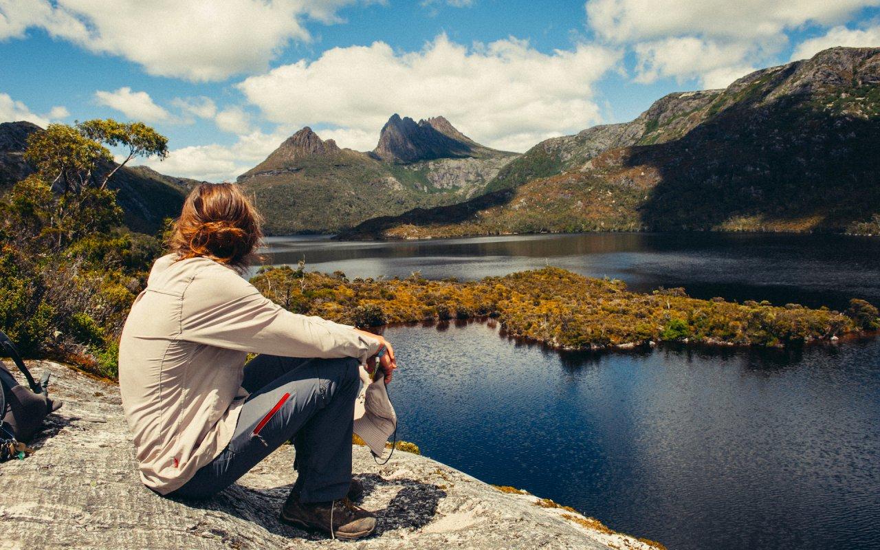 Cradle Mountain lake - voyage en tasmanie