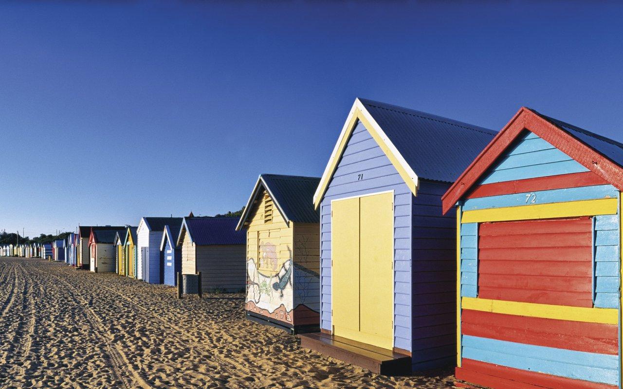 Cabane de plage dans la ville de Melbourne