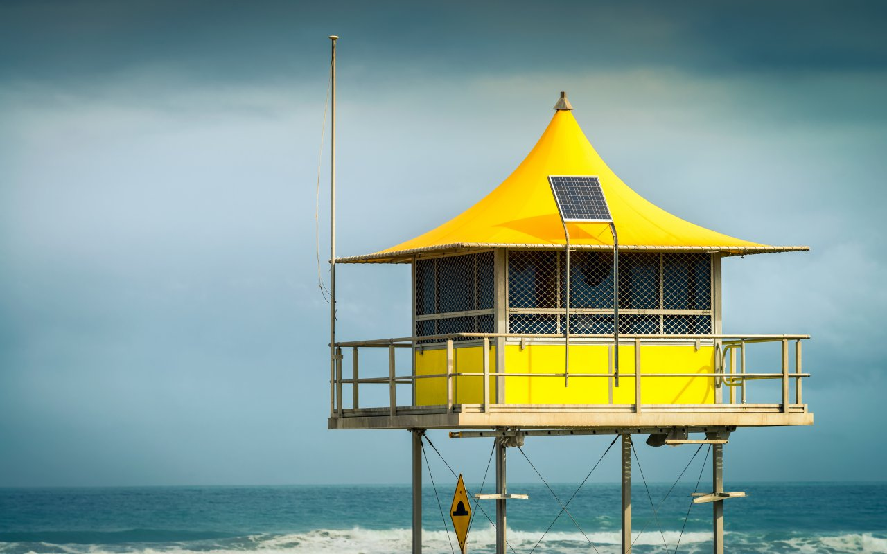 Surf life saving tower en Australie
