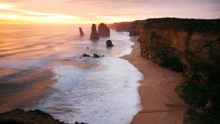 twelve apostles au coucher du soleil