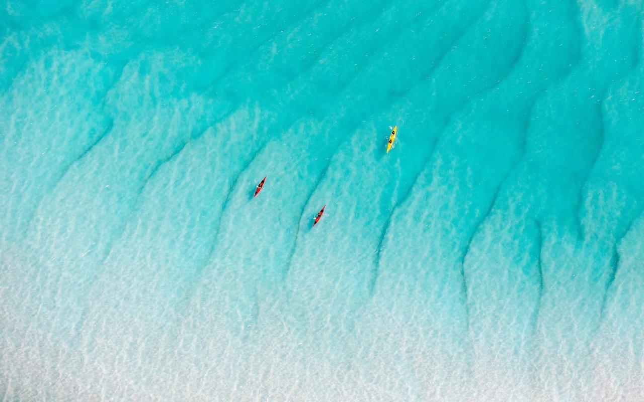 kayak whitehaver beach - voyage australie terra australia