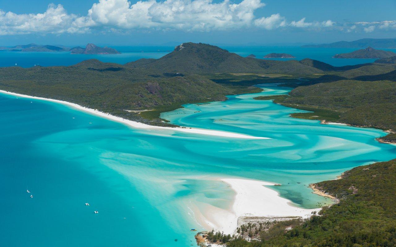 Géographie de l'Australie : les Whitsunday islands